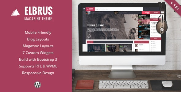 Elbrus - Responsive WordPress Magazine Theme - Blog / Magazine WordPress