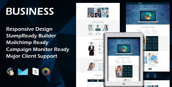 BUSINESS - Multipurpose Responsive Email Template + Stamp Ready Builder - Email Templates Marketing
