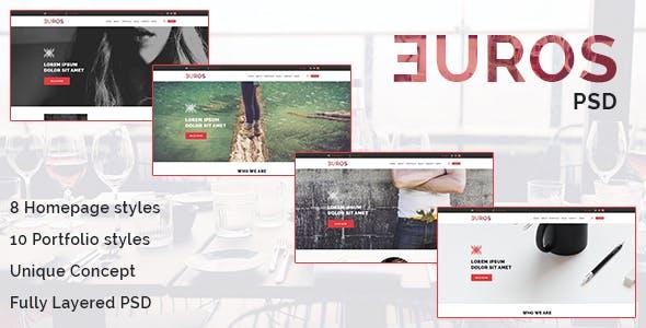 Euros - Multipurpose PSD Template