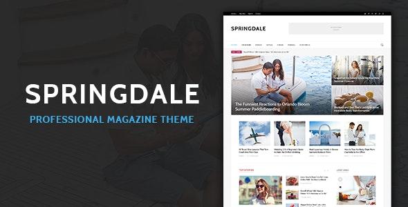Springdale - Magazine HTML Template by wplobi