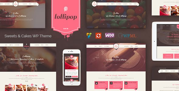 Lollipop - Awesome Sweets & Cakes Responsive WordPress Theme