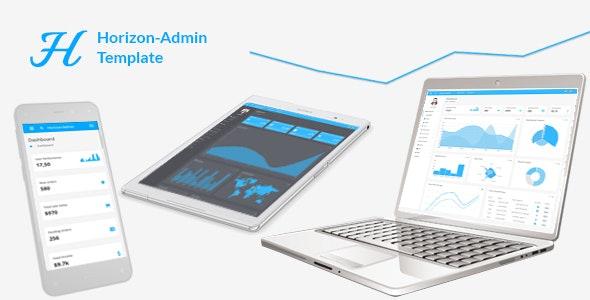 Horizon - Responsive + RTL + PHP + AngularJS Web app kit - Admin Templates Site Templates