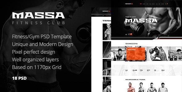 Massa — Fitness, Gym, Sport Blog PSD Template - Health & Beauty Retail