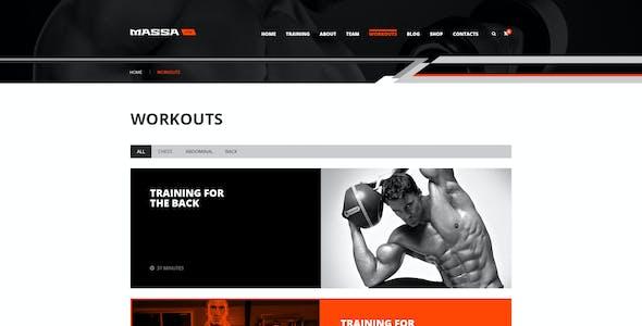 Massa — Fitness, Gym, Sport Blog PSD Template