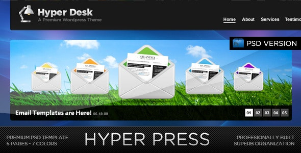HYPER PRESS - Premium PSD Template - Creative Photoshop