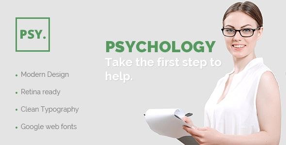 PSY – PSD Template for Psychologists, Counselors & Psychiatrists - Photoshop UI Templates