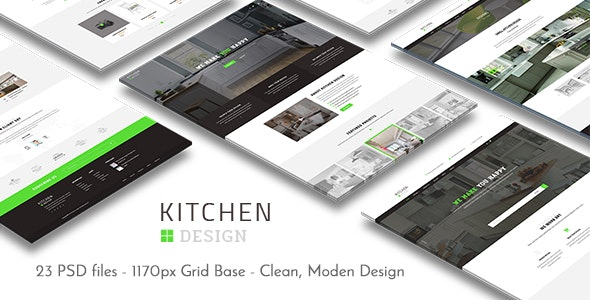 Kitchen - PSD Template - Business Corporate