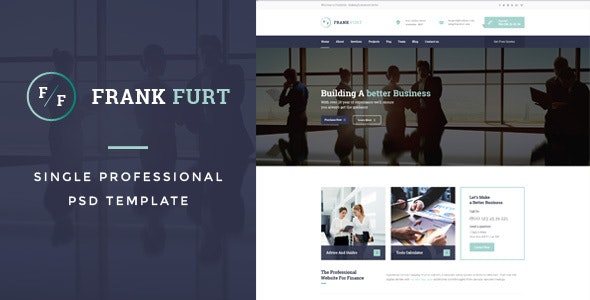 FrankFurt : Single Professional PSD Template - Creative PSD Templates