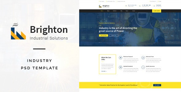 Brighton : Industry PSD Template - Creative PSD Templates