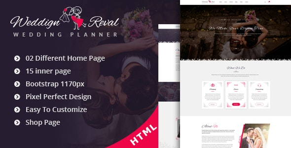 Wedding Reval - Planner & Agency - Wedding Site Templates