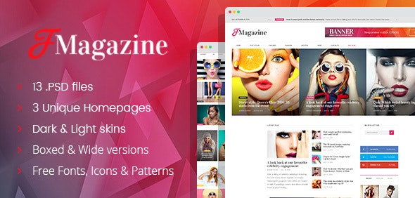 TrueMag - Multiconcept Magazine/Blog/Newspaper PSD Template - Miscellaneous Photoshop