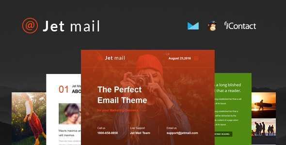 Jet mail - Responsive E-mail Template + Online Access - Email Templates Marketing