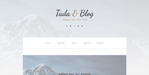 Tada & Blog - Personal HTML Theme