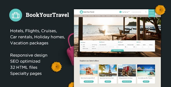Book Your Travel Online Booking Html Template Retail