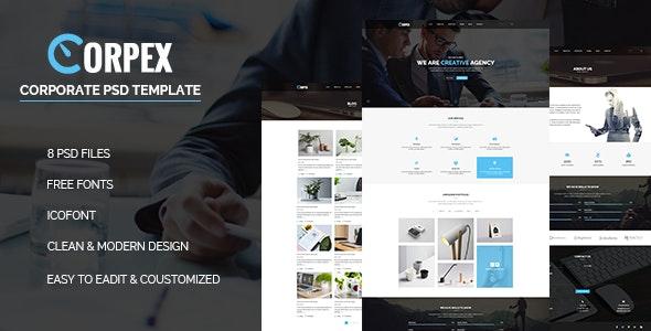 Corpex - Corporate PSD Template - Corporate PSD Templates