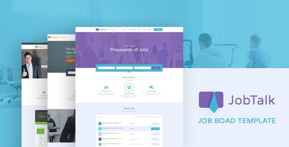 Jobtalk - Career Board PSD Template - Business Corporate