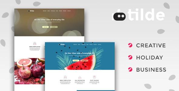 Tilde – Creative Multipurpose Landing Page - Landing Pages Marketing