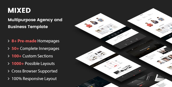 MIXED - Multipurpose Agency and Business Template - Corporate Site Templates