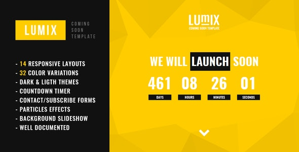 Lumix - Responsive Under Construction Template - Under Construction Specialty Pages