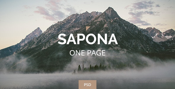 Sapona - One Page PSD  - Corporate Photoshop