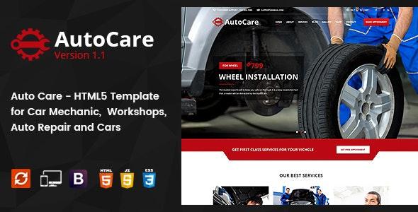 Auto Care - Car Mechanic HTML5 Template - Business Corporate