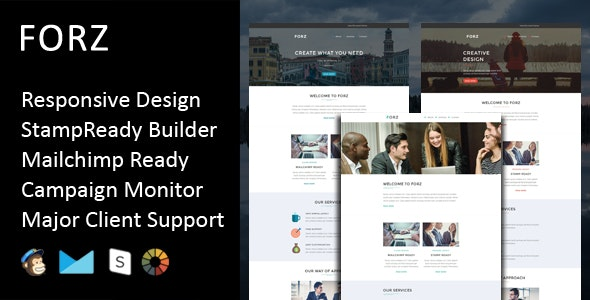 Forz - Multipurpose Responsive Email Template + Stampready Builder - Email Templates Marketing