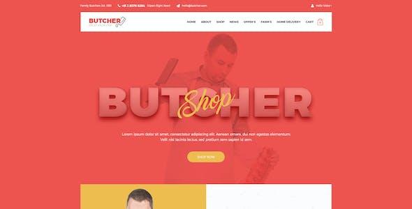 Butcher - Meat Shop PSD Template
