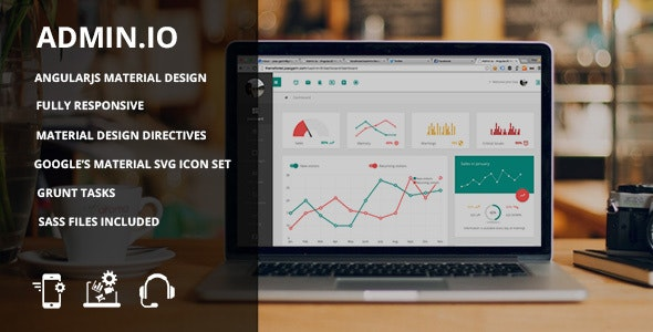 Admin io - Responsive Material Design Dashboard by