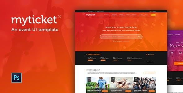 MyTicket - an Event Theme PSD