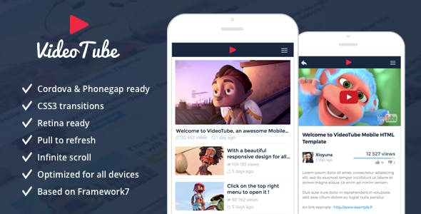 VideoTube - Responsive Mobile Template