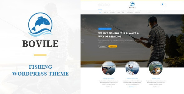 Bovile - Fishing WordPress Theme by PremiumLayers | ThemeForest