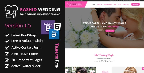Rashid - Wedding and Event Planner HTML Template - Wedding Site Templates
