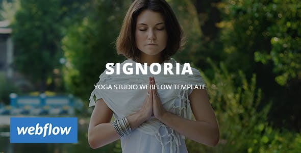 Download Signoria - Yoga Studio WebFlow Template