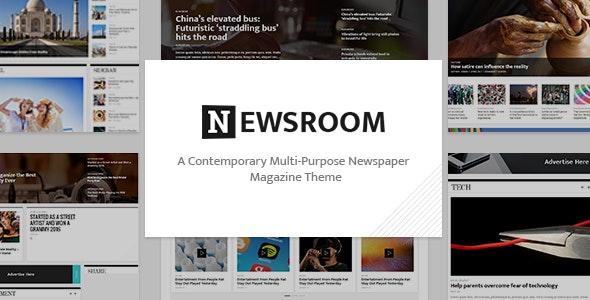 Newsroom - Newspaper Theme - News / Editorial Blog / Magazine