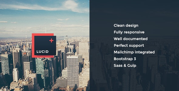 Lucid – Clear & Modern Coming Soon Template - Under Construction Specialty Pages