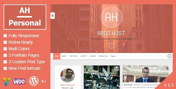 AH Personal - Creative Resume & Blog Theme