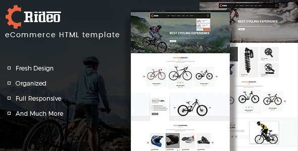 Rideo - Bicycle Store HTML Template - Shopping Retail