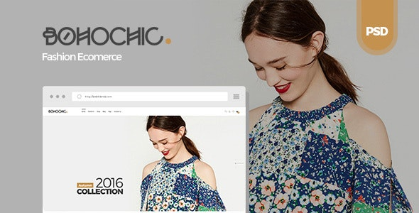 Bohochic - Ecommerce PSD Template - Retail Photoshop