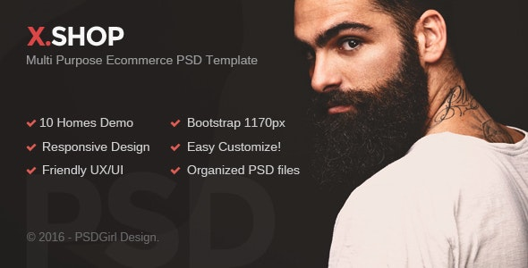 X.Shop - Kute PSD Template - Fashion Retail