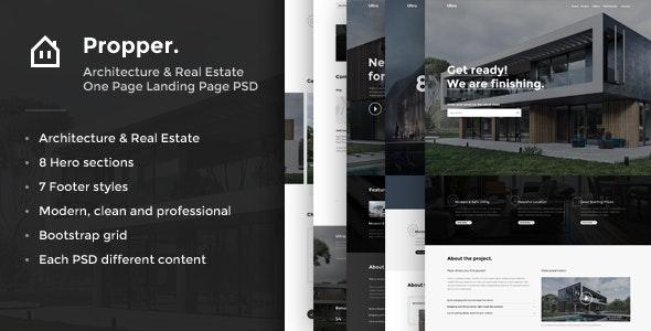 Propper - Architecture PSD Template - Corporate PSD Templates