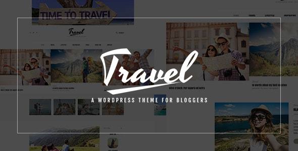 Travel Blog - PSD Template - Travel Retail