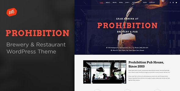 Prohibition - Brewery & Restaurant Theme - Restaurants & Cafes Entertainment