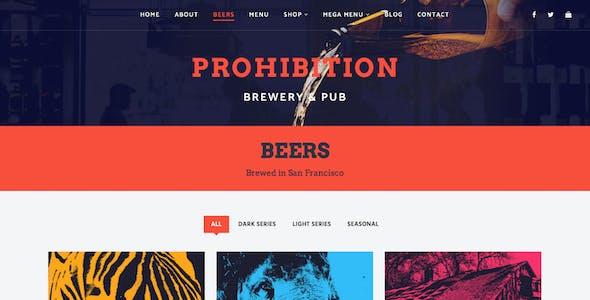 Prohibition - Brewery & Restaurant Theme