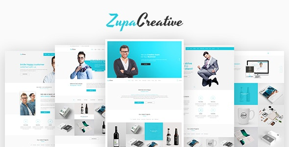 ZupaCreative – Business and Creative Agency – PSD Template - Creative PSD Templates