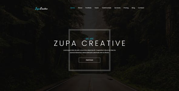ZupaCreative – Business and Creative Agency – PSD Template