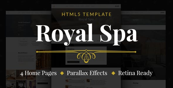Royal Spa — Luxury Hotel & Spa HTML5 Template