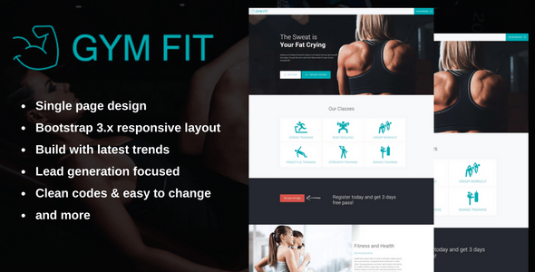 GYM FIT - Fitness Landing Page