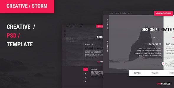 Creative / Storm - Creative Agency PSD Tempalte - Art Creative