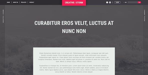 Creative / Storm - Creative Agency PSD Tempalte