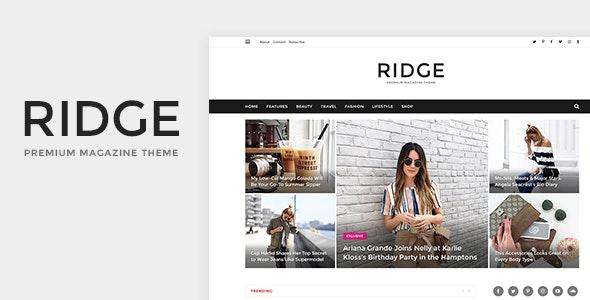 Ridge - Magazine PSD Template - Miscellaneous PSD Templates